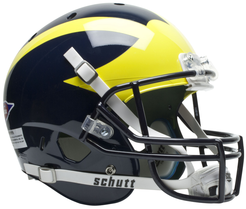 Michigan Wolverines Full XP Replica Football Helmet Schutt PSM-Powers Sports Memorabilia