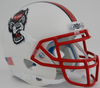 North Carolina State Wolfpack Authentic College XP Football Helmet Schutt B White Wolf B PSM-Powers Sports Memorabilia