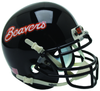 Oregon State Beavers Full XP Replica Football Helmet Schutt B Black Beavers B PSM-Powers Sports Memorabilia