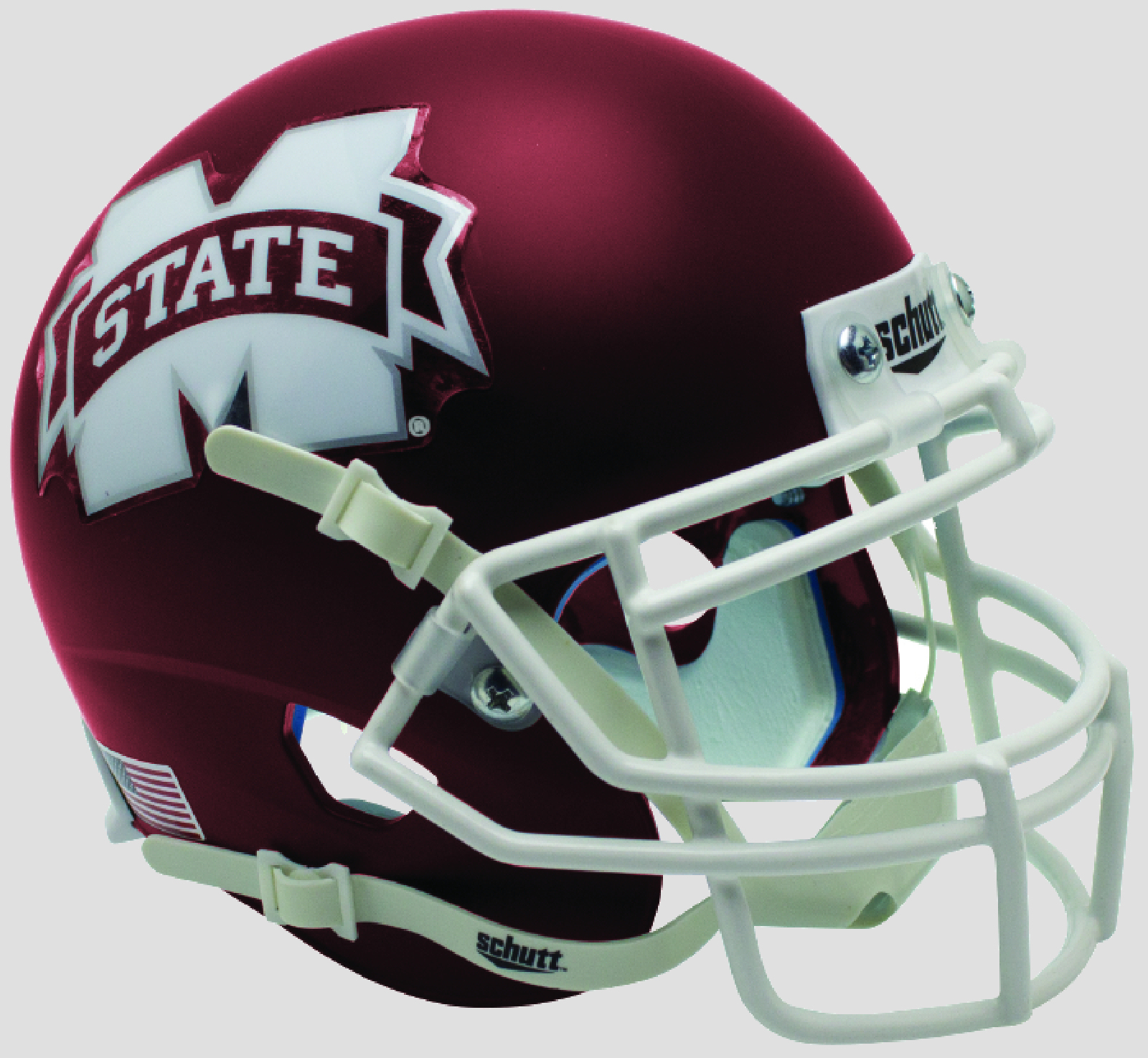 Mississippi State Bulldogs Mini XP Authentic Helmet Schutt B Satin Maroon B PSM-Powers Sports Memorabilia