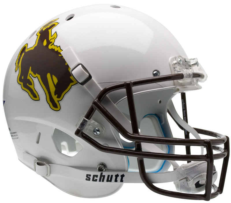 Wyoming Cowboys Full XP Replica Football Helmet Schutt PSM-Powers Sports Memorabilia