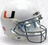 Miami Hurricanes Full XP Replica Football Helmet Schutt B White with Black Mask B PSM-Powers Sports Memorabilia
