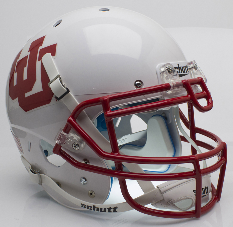 Utah Utes Authentic College XP Football Helmet Schutt B White UUB PSM-Powers Sports Memorabilia