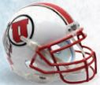 Utah Utes Authentic College XP Football Helmet Schutt B White with StripeB PSM-Powers Sports Memorabilia