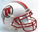 Utah Utes Mini XP Authentic Helmet Schutt B White with StripeB PSM-Powers Sports Memorabilia