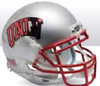 UNLV Runnin Rebels Miniature Football Helmet Desk Caddy B Chrome Mask B PSM-Powers Sports Memorabilia