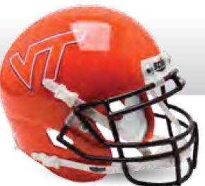 Virginia Tech Hokies Miniature Football Helmet Desk Caddy B Orange B PSM-Powers Sports Memorabilia
