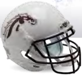 Western Michigan Broncos Authentic College XP Football Helmet Schutt B White B PSM-Powers Sports Memorabilia