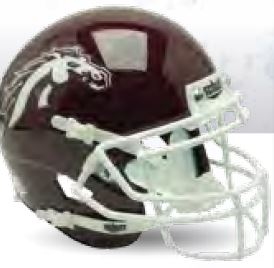 Western Michigan Broncos Full XP Replica Football Helmet Schutt B Brown B PSM-Powers Sports Memorabilia