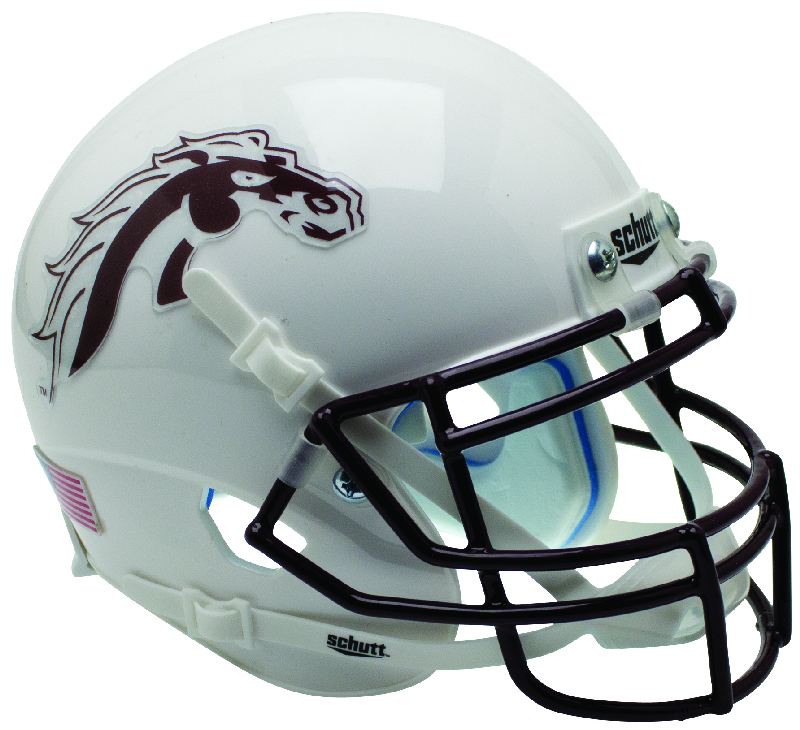 Western Michigan Broncos Mini XP Authentic Helmet Schutt B White B PSM-Powers Sports Memorabilia