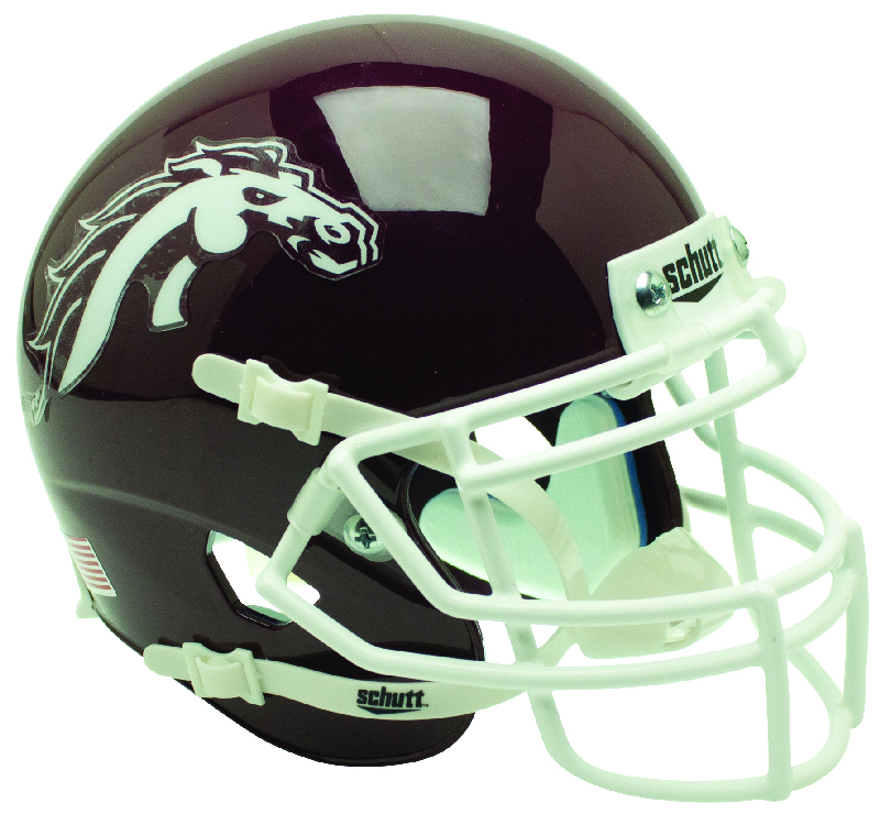 Western Michigan Broncos Mini XP Authentic Helmet Schutt B Brown B PSM-Powers Sports Memorabilia