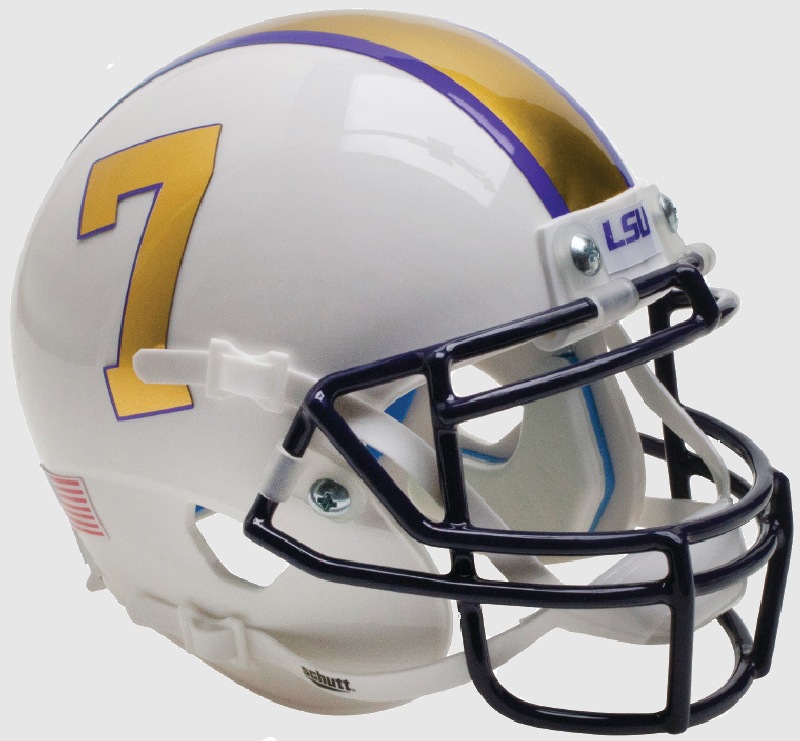 LSU Tigers Mini XP Authentic Helmet Schutt B Gridiron Gold B PSM-Powers Sports Memorabilia