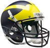 Michigan Wolverines Full XP Replica Football Helmet Schutt B 2016 Satin Blue B PSM-Powers Sports Memorabilia