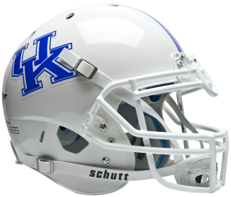 Kentucky Wildcats Authentic College XP Football Helmet Schutt B White B PSM-Powers Sports Memorabilia