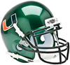 Miami Hurricanes Mini XP Authentic Helmet Schutt B Green B PSM-Powers Sports Memorabilia