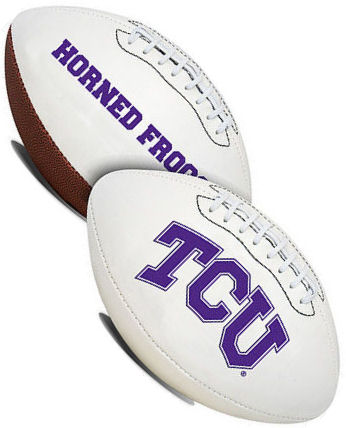 TCU Horned Frogs NCAA Signature Series Full Size Football PSM-Powers Sports Memorabilia