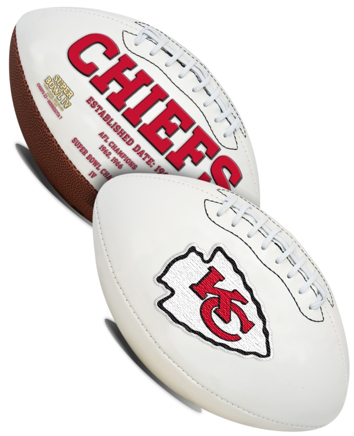 Kansas City Chiefs NFL Signature Series Full Size Football PSM-Powers Sports Memorabilia