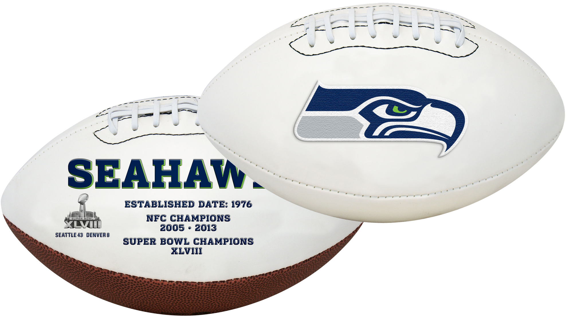 Seattle Seahawks NFL Signature Series Full Size Football PSM-Powers Sports Memorabilia