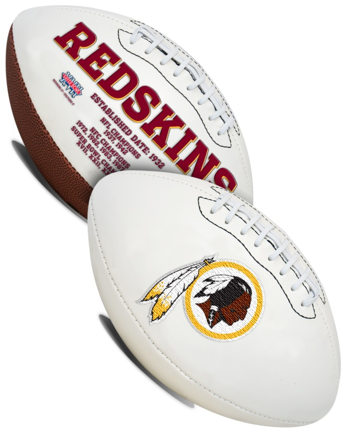 Washington Redskins NFL Signature Series Full Size Football PSM-Powers Sports Memorabilia