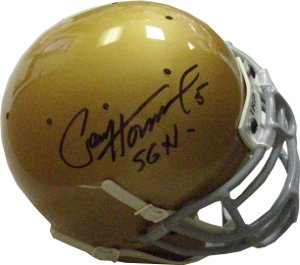 Paul Hornung signed Notre Dame Authentic Schutt Mini Helmet 56H- JSA Hologram #CC09414 (Heisman) PSM-Powers Sports Memorabilia