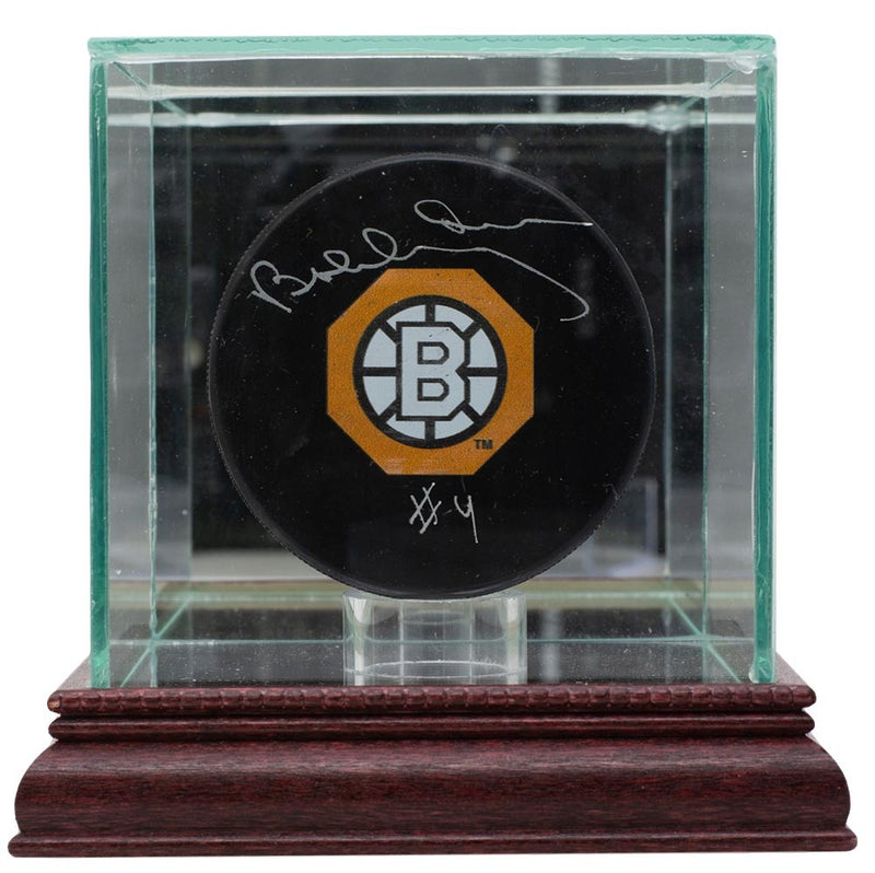 Bobby Orr Boston Bruins Signed Throwback Logo Hockey Puck w/Case GNR LOA PSM-Powers Sports Memorabilia