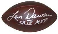 Len Dawson signed Official NFL Duke Throwback Football SBIVMVP- Beckett Hologram (Kansas City Chiefs) (silver sig) PSM-Powers Sports Memorabilia