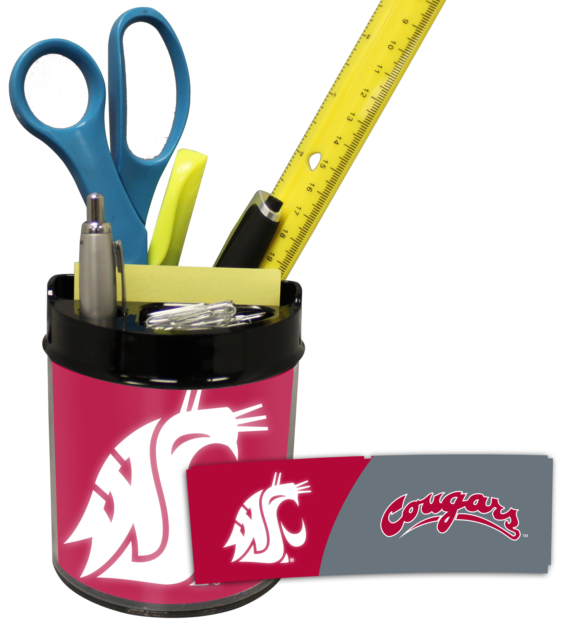 Washington State Cougars Small Desk Caddy PSM-Powers Sports Memorabilia
