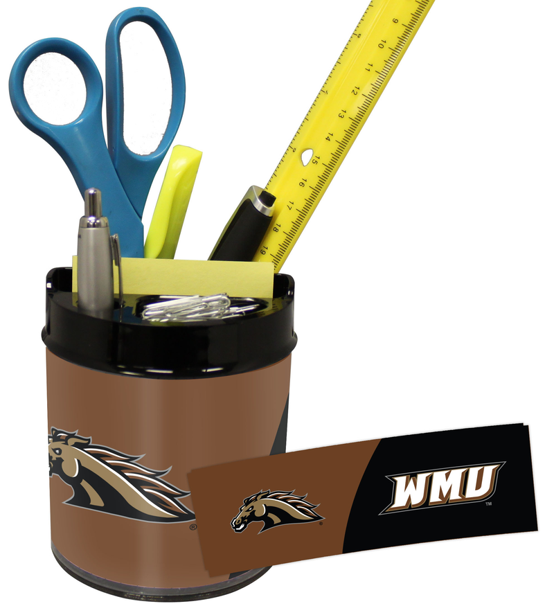 Western Michigan Broncos Small Desk Caddy PSM-Powers Sports Memorabilia