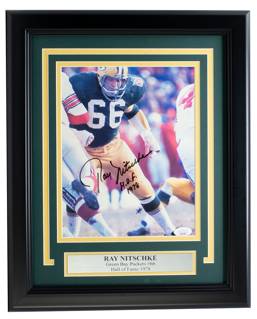Ray Nitschke Green Bay Packers Signed Framed 8x10 Photo HOF 1978 JSA HH70528 PSM-Powers Sports Memorabilia