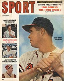 Sport Magazine - Eddie Mathews Milwaukee Braves Cover - September 1958 PSM-Powers Sports Memorabilia