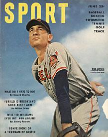 Sport Magazine - Bob Lemon Cleveland Indians Cover - June 1950 PSM-Powers Sports Memorabilia
