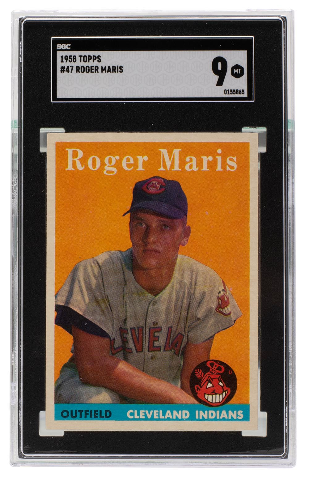 Roger Maris 1958 Cleveland Indians Topps Rookie Card RC #47 SGC Mint 9 PSM-Powers Sports Memorabilia