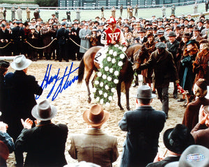 8697c1cb02a Gary Stevens signed Horse Racing Winners Circle from Seabiscuit Movie 16X20  Photo- Steiner Hologram PSM