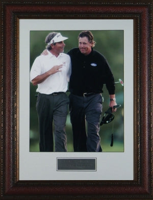 Fred Couples unsigned 2006 Masters 11X14 Custom Leather Framed w/Mickelson PSM-Powers Sports Memorabilia