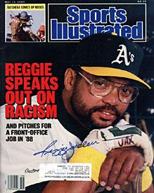 Reggie Jackson Sports Illustrated Autographed / Signed May 11 1987 - Oakland Athletics PSM-Powers Sports Memorabilia