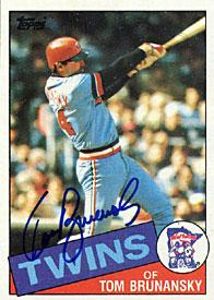 Tom Brunansky Autographed / Signed 1985 Topps #122 Card - Minnesota Twins PSM-Powers Sports Memorabilia
