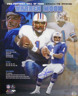 Warren Moon signed Houston Oilers 16x20 Collage Photo HOF06 PSM-Powers Sports Memorabilia