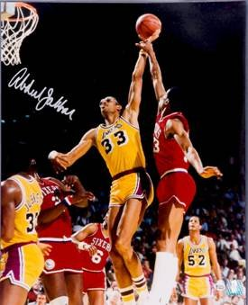 Kareem Abdul-Jabbar signed Los Angeles Lakers 16x20 Photo- Online Authentics Hologram PSM-Powers Sports Memorabilia