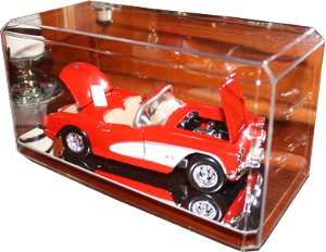 Nascar unsigned 1:24 Crystal Clear Display Case with Mirror-like Base PSM-Powers Sports Memorabilia