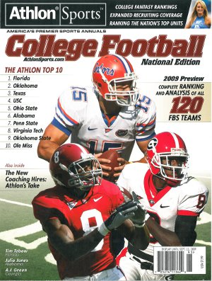 Tim Tebow unsigned 2009 Florida Gators Preseason National Magazine Preview PSM-Powers Sports Memorabilia
