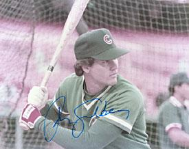 Ryne Sandberg Autographed / Signed Chicago Cubs Baseball 8x10 Photo PSM-Powers Sports Memorabilia