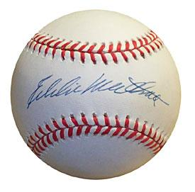 Eddie Mathews Autographed / Signed Baseball (JSA) PSM-Powers Sports Memorabilia