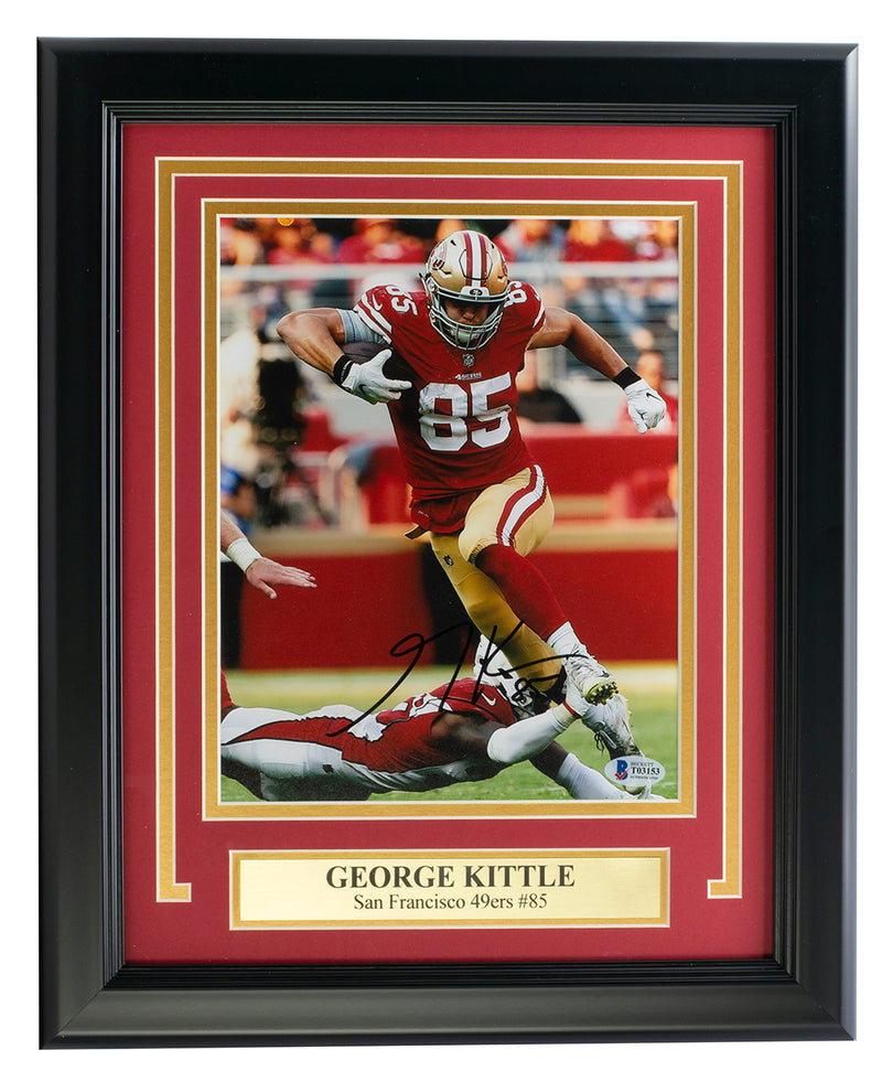 George Kittle San Francisco 49ers Signed Framed 8x10 Photo BAS PSM-Powers Sports Memorabilia