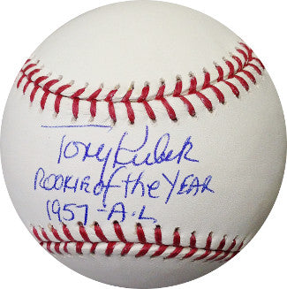 Tony Kubek signed Official Rawlings Major League Baseball Rookie of the Year 1957- AL (New York Yankees) PSM-Powers Sports Memorabilia