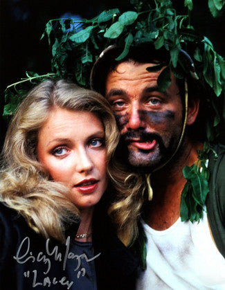 "Cindy Morgan signed Caddyshack 16x20 Photo Inscribed ""Lacey"" w/ Bill Murray Helmet pose (entertainment) PSM-Powers Sports Memorabilia"