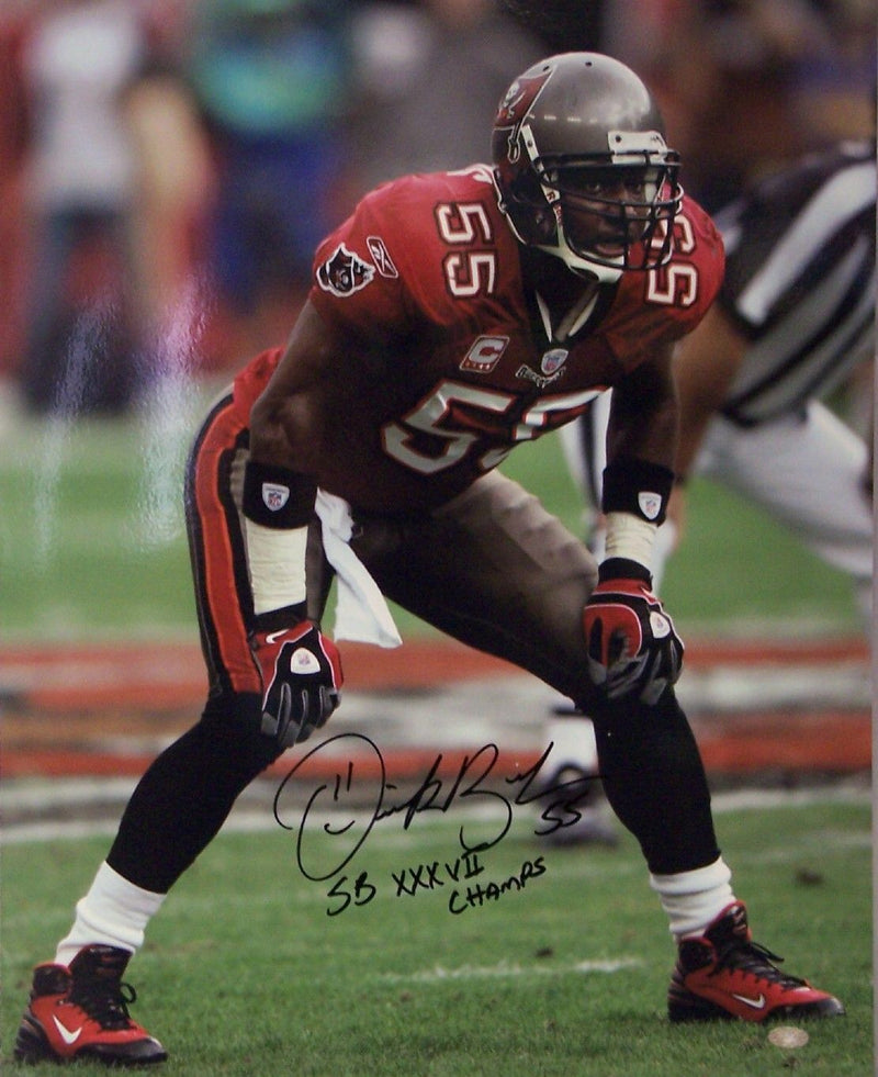 Derrick Brooks Autographed Hand Signed Tampa Bay Buccaneers Bucs 16x20 Photo Photograph - PSA/DNA PSM-Powers Sports Memorabilia