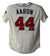 Hank Aaron Signed Atlanta Braves Authentic Majestic Cream 48 Jersey JSA PSM-Powers Sports Memorabilia