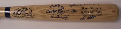 Tampa Bay Rays 6 Players Hand Signed Baseball Bat - PSA/DNA PSM