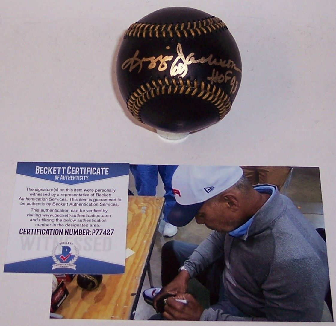 Reggie Jackson Autographed Hand Signed Black Official Baseball - BAS Beckett PSM-Powers Sports Memorabilia