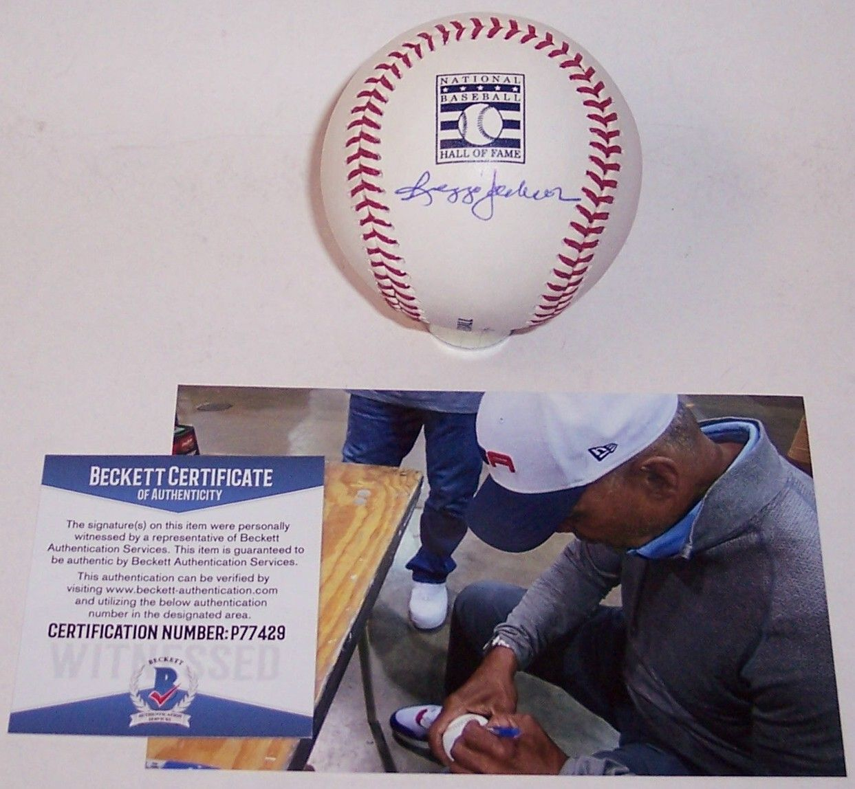 Reggie Jackson Autographed Hand Signed Official Major League Hall of Fame Logo Baseball - BAS Beckett PSM-Powers Sports Memorabilia